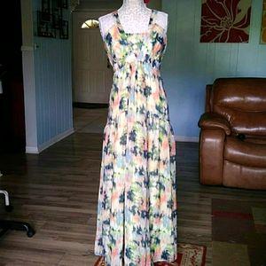 Jessica Simpson soft flowy tie dye maxi dress NWT
